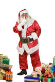 Santa Claus Portrait shushing Royalty Free Stock Images
