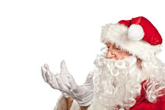 Santa claus portrait on white Royalty Free Stock Images