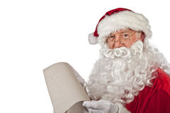 Santa claus portrait on white Royalty Free Stock Photography