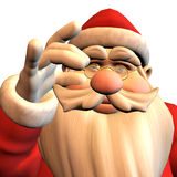 Santa Claus in pose Royalty Free Stock Images