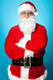 Santa claus posing with confidence Royalty Free Stock Photography