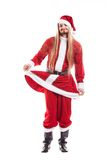 Santa Claus positiva de risa con el pelo largo Imagen de archivo libre de regalías