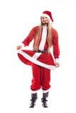 Santa Claus positiva de riso com cabelo longo Imagem de Stock Royalty Free
