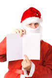Santa Claus with postcard Stock Photo