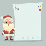 Santa Claus with poster Royalty Free Stock Photography