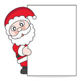 Santa Claus with poster Stock Image