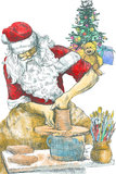 Santa Claus potter Royalty Free Stock Photo