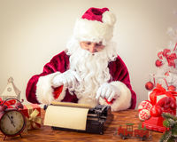 Santa Claus pound manual typewriter Stock Photos