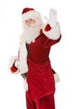 Santa claus powiedzieć cześć zdjęcie royalty free