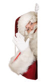 Santa claus powiedzieć cześć obrazy royalty free