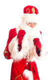 Santa Claus is preparing for fight. Royalty Free Stock Photography