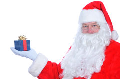 Santa Claus with Present royalty free stock images