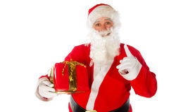 Santa Claus with present Stock Image