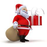 Santa claus with a present Stock Photos