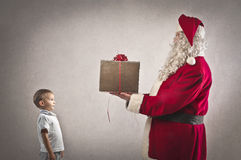 Santa Claus Present Stock Photos
