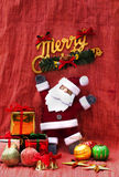 Santa Claus and present decoration Stock Photography