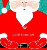 Santa Claus present. Santa Claus and massege merry christmas present Royalty Free Stock Image
