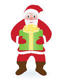 Santa Claus with present Royalty Free Stock Image