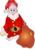 Santa Claus with present sack Royalty Free Stock Photography