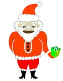 Santa Claus with a Present! Vector / Clip Art Royalty Free Stock Image