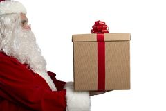 Santa Claus with a present Royalty Free Stock Image