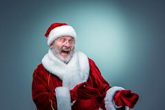 Santa Claus, presenting something. Stock Photography