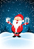 Santa Claus with presents Royalty Free Stock Images