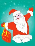 Santa Claus with presents Stock Images