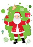 Santa Claus and the presents Royalty Free Stock Images