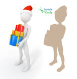Santa Claus with presents Stock Image