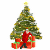Santa Claus with presents and Stock Photography
