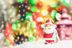 Santa Claus presents a happy holiday atmosphere. Santa Claus presents a happy holiday atmosphere Royalty Free Stock Images