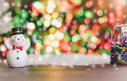 Santa Claus presents a happy holiday atmosphere. Santa Claus presents a happy holiday atmosphere Royalty Free Stock Photography