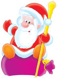 Santa Claus with presents sack Royalty Free Stock Images