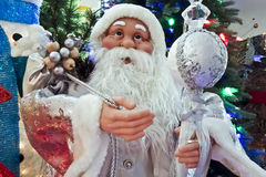 Santa Claus with presents and toys Stock Photo