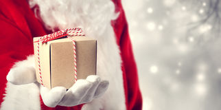- Santa claus prezent Obraz Royalty Free