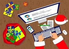 Santa claus prezenty Zdjęcie Royalty Free