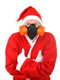 Santa claus in protect mask Royalty Free Stock Photos