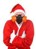 Santa claus in protect mask Royalty Free Stock Photos