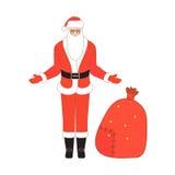Santa claus przeszłość Zdjęcie Royalty Free