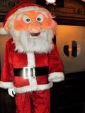 Santa Claus-Puppe in der natürlichen Größe stockfotografie