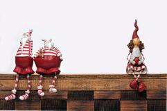 Santa Claus and puppet Royalty Free Stock Image