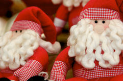 Santa Claus Puppets. Santa Claus puppet for sale in a christmas shop Stock Images
