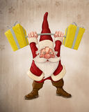 Santa Claus and the Push scooter Royalty Free Stock Photos