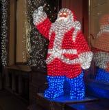 Santa Claus que brilla intensamente Fotografía de archivo libre de regalías