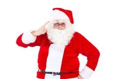 Santa Claus que dice que usted no era agradable Imagenes de archivo