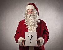 Santa Claus Question Royalty Free Stock Photos