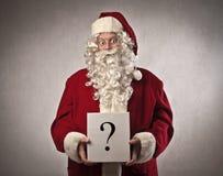 Santa Claus Question royalty free stock photos
