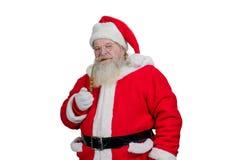 Santa Claus réaliste fumant son tuyau Photos stock