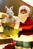 Santa Claus and rabbit gift Royalty Free Stock Photos